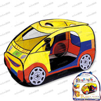 Tents Animes & Cartoons PVC/PE LLFA1907 2013 New Cute Car Children s Tent Play Houses for kids girls boys Gifts Children Indoor