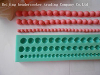 Wholesale Silicone Pearl bead Mold Cookware Dining Bar Non Stick Cake Decorating fondant soap mold