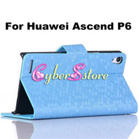 Wholesale Luxury Diamond Football Pattern Wallet PU Flip Leather Case Cover With Credit Card Slots Stand for Huawei Ascend P6