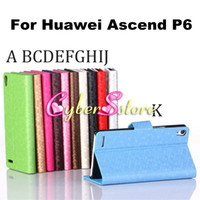 Wholesale Diamond Football Pattern Wallet PU Flip Leather Case Cover With Credit Card Slots Stand for Huawei Ascend P6