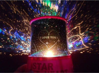 Wholesale Amazing Flashing Colorful Sky Star Master Night Light Lovely Sky Starry Star Projector Holiday LED Light Lamp FREE EMS L232