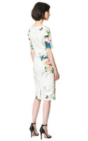 Wholesale NEW Womens European Fashion Flower Bird Butterfly Print Short Sleeve mini Dress B2231