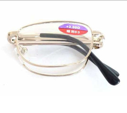Wholesale Folding Reading Glasses Senior Package Eyeglasses With Artificial Crystal Lens
