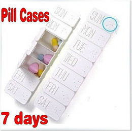 Wholesale Portable Day Travel Pill Container Medical Planner Pill Case Organizer Box Pill Cases Worldwide