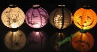 Wholesale 4pcs Halloween lantern pumpkin lamp Bar scene decoration Lantern Portable Paper Lantern Spider Ghost Bats Pumpkin lights