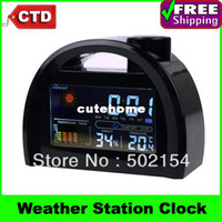 Mechanical Digital Digital Free Shipping High-quality With Factory Cheap Price LED Weather Station Alarm Clock--Best For Promotion Gift