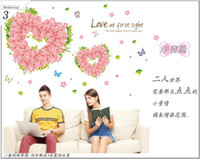 Plant PVC Living Room Rose Love wall decals decorate marriage room bedroom wall stickers wall stickers AM7006 soulmate