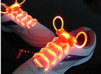 Wholesale LED Optical Fiber Flashing Shoelaces Optical Fiber Glowing Light LED Shoelaces Glow Dark Shoelaces L233