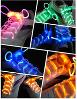 Holiday LED Shoelace 68G Fiber Optic LED Shoe Laces Shoelaces Led Strong Light Flashing Luminous Shoelace Free EMS L233