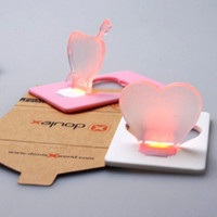 Wholesale Cupid Pocket Light Portable Wallet Card Pocket LED Card Light Purse Christmas Gifts Lamp100PCS Utop2012
