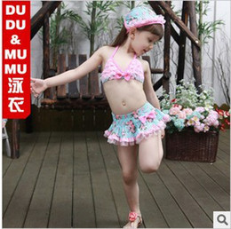 Wholesale 2013 New Arrival Korea Style Flower Princess Skirt Y Girl s Three pieces Bikini Swimwear
