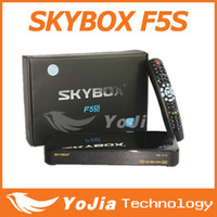 Wholesale 1pc Original Skybox F5S HD full p VFD display digital satellite tv receiver support usb wifi youtube youpron europe FEDEX