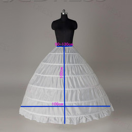 Wholesale White HOOP PETTICOAT crinoline SLIP Underskirt BRIDAL WEDDING dress Hot Sale real sample bridal princess petticoat bridal underskirt