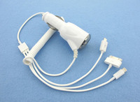 Wholesale Car Charger Adapter Multi Function with M Spring Cable for iPhone4 S iPhone5 Samsung S3 S4 iPad mini