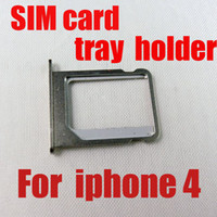Wholesale Brand New High Quality Replacement Silver SIM Card Tray Slot Holder for iPhone G S GS th