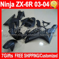 Flat matte black 7gifts Free Custom ! For KAWASAKI NINJA ZX-...