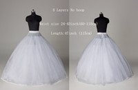 Ball Gown 100% Polyester Ball Gown Slip New Style WHITE 8 Layers No hoop Bridal Crinoline Petticoat Wedding Accessory Undergarment 8 layers no hoop underskirt soft petticoats