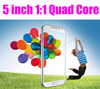 Wholesale Quad Core MTK6589 S4 i9500 Air Gesture inch Capacitive Screen Smart cell Phone GPS WiFi G Wcdma Android Play Store