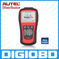 al por mayor autel md802-Autel MaxiDiag Elite MD802 todo el sistema de avance gráficas OBDII Scan código herramienta completo sistema de compensación