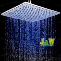 Wholesale RGB Super Bright Colorful Lights Mixer Led Rain Shower Head Bathroom Square Shower Panel Head With LightsSet