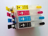 Wholesale T1291 T1292 T1293 T1294 refillable ink cartridge with reset button for Epson SX420W SX425W SX525WD SX620FW SX445 SX235W SX435W ect printers