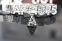 Wholesale Internal Size mm A rhinestone slide letter