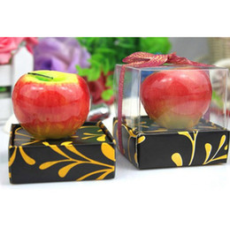 Wholesale Newest Red and Green Apple Art Candle Packed in Box for Wedding and Chirstmas Gifts