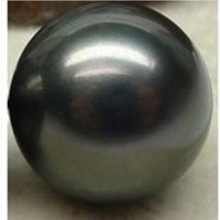 Wholesale PERFECT ROUND SOUTH SEA NATURAL BLACK LOOSE PEARL MM HALF DRILLED