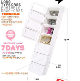 Wholesale Mini DAYS Weekly Vitamin Tablet Drug Pill Box Case Organizer Jewel Container