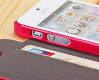 Leather For Apple iPhone  For Apple iPhone 5 5S SGP Flip Leather Case Cover Wallet Case Credit Card Holder Slot