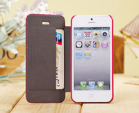 Leather For Apple iPhone  For Apple iPhone 5 5S SGP Flip Leather Case Cover Wallet Case Credit Card Holder Slot With Retail Packaging