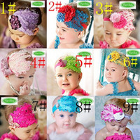 Wholesale Baby girls fashion feather Headbands candy colors Hair Ornaments Shining headwear Kids accessories