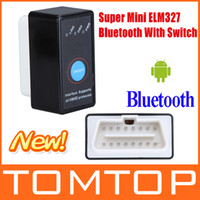 Wholesale Mini Bluetooth ELM327 ELM OBD2 Diagnostic Car Scanner Tool with Switch Works on Android K877