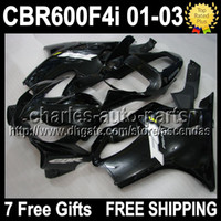 7gifts For HONDA F4i 01- 03 CBR600F4i ALL Black CBR600FS 01 0...