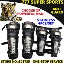 Wholesale 4pcs Motorcycle Knee Eblow Protector Motor Protection Racing Stainless steel Guard