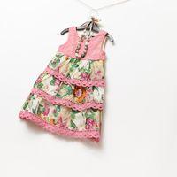 Baby girl kids cotton vest dress floral tutu dress flower dr...