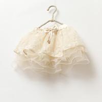 Baby girl kids lace skirt flower floral tutu skirt crochet s...