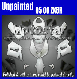 UNPAINTED fairings kit for 2005 2006 Kawasaki Ninja ZX6R 636 05 06 ZX-6R ZX 6R unpaint fairing kits 7 gifts