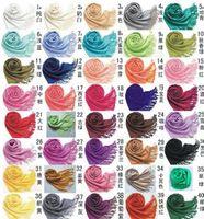 Wholesale Infinity Scarves Wool Pashmina Scarves Designer Warm Winter Circle Chevron Cotton Long Big Large Cashmere Scarf Tassel for Ladies woman