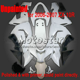7 Gifts Unpainted fairings for 2006 2007 Kawasaki Ninja ZX-10R ZX10R 06 07 ZX 10R custom unpaint fairing set sw87
