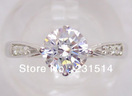 Wholesale K White Gold MM Round Shape Engagement amp Wedding Semi Mount Ring Diamond Ring