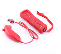Wholesale Motion Plus Built In Wireless Wiimote Remote And Nunchuck Game Controller Joysticks Set With Silicone Case For Wii Games DHL