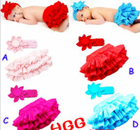 Wholesale Christmas baby tutu skirt sets girls ruffle skirts dress baby big flower headband for T pc headbands skirts u pick up color free