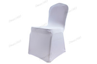 Wholesale Sample Order White Spandex Lycra Banquet Chair Cover For Party Wedding flat front Best Quality Faster Delivery