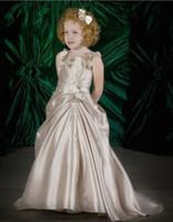 al por mayor muchachas marrones vestidos del desfile-Lovely Brown Organza vestidos de niña vestidos formales vestido de desfile personalizado SZ 2 4 6 8 10 12 FD8140221