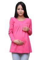 Wholesale Autumn Maternity Jacket Pregnant Bottoming Shirt Long sleeve maternity tops