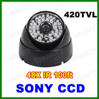 Wholesale 420TVL Vandalproof Dome Camera IR LED Day amp Night Vision SONY CCD Color CCTV Home Security Surveillance Camera For DVR System
