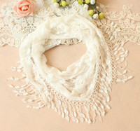Wholesale 2013 Bran New Korean Lace triangle scarf fashion shawl fringed scarves