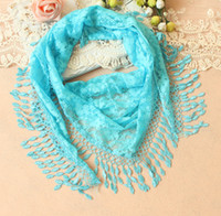 Wholesale Hot New Arrival Korean Lace triangle scarf fashion shawl fringed scarves