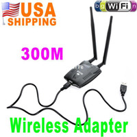 Wholesale US Stock To USA CA Mbps USB WiFi Wireless LAN n g b Adapter w Antenna dBi UPS Dropship